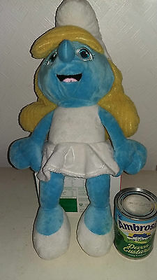 Large Plush Smurfette from the smurfs, 21 inches long ( 54cms)