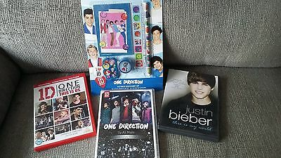 One Direction DVD and Stationery bundle and Justin Bieber DVD