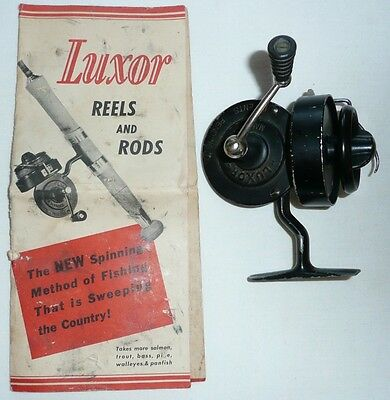 Vintage Luxor Spinning Reel with Catalog and Instructions