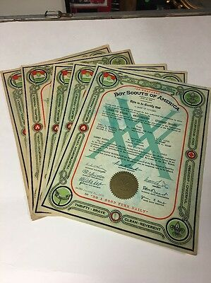 19pc Boy Scouts Of America BSA TROOP CHARTER CERTIFICATES 1923-1946. NEWBURGH NY