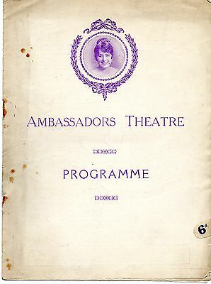 Ambassadors 190? Programme. 'green Pastures & Piccadilly' Charles Groves.