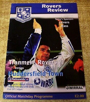 2000/01 DIVISION ONE - TRANMERE ROVERS v HUDDESFIELD TOWN - 27 FEBRUARY 2001