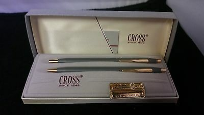 Cross  Gray Pen and pencil set (Model 230105) NEW IN BOX GRAY GRIS