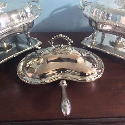 Sheffield Silver Covered Divided Serving Dish w/ Handle – Lee & Wigfull –