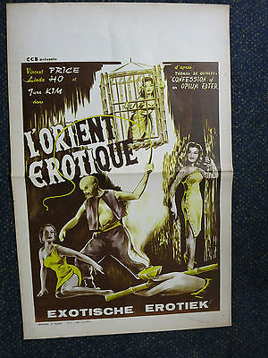 Confessions Of An Opium Eater  Vincent Price Belgian  Poster