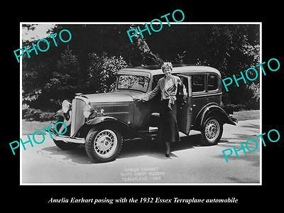 Old Large Historic Photo Of Amelia Earhart At The Essex Terraplane Launch 1932 3