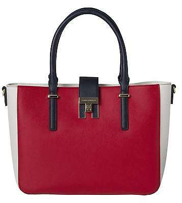 TOMMY HILFIGER AW0AW04093 HERITAGE TOTE RED BOLSO Y BOLSO DE MANO Mujer