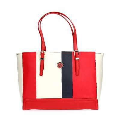 TOMMY HILFIGER AW0AW03750 HONEY TOTE RED BOLSO Y BOLSO DE MANO Mujer