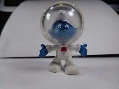 █ RARE Astro Smurf with RED TIE!  2.0003  Nice, Clear Dome   ^,,^  EXCELLENT!