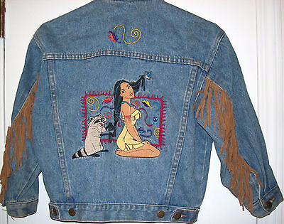Chilidrens Disney Denim Jacket Size medium vintage mid 1990's Pocahontas