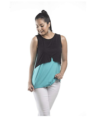NEW! My Bella Mama Milano Nursing Top Breastfeeding Maternity Sleeveless Tank