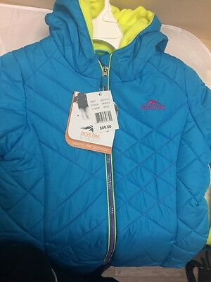 NEW PACIFIC TRAIL Kids Blue Zip-Up Termo Coat  - Size M(10/12)