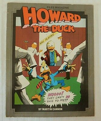 Howard The Duck Files Magazine by Martin Cannon