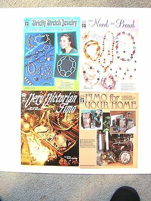 Lot of 4 HOT OFF THE PRESS Craft Leaflets (Jewelry & FIMO Clay)
