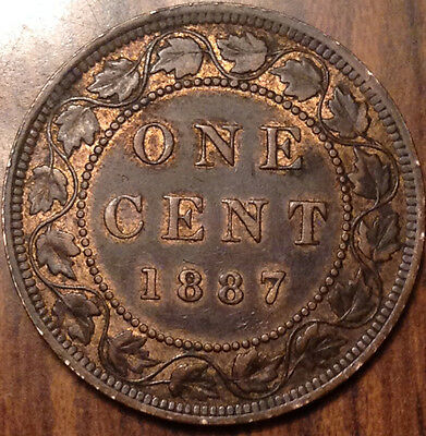 1887 Canada Large Cent In Beautiful High Grade !