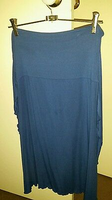 Intimo Blue Stretch Skirt Waist Ties In Excellent  Condition  Size 12