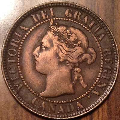 1896 Canada Large Cent In Good Condition !