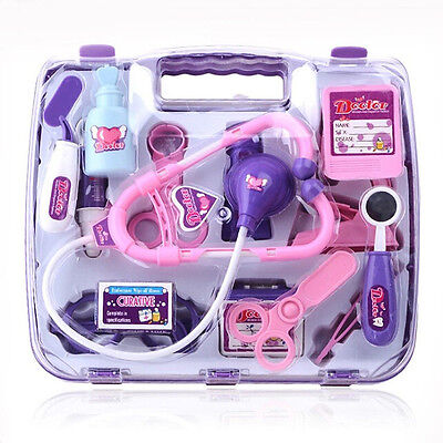 Portable Kids Doctor Nurse Medical Role Play Set Case Baby Kit Educational Toys