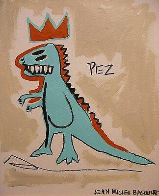 Original, Painting, Signed, Jean Michel Basquiat, Banksy style, art, drawing