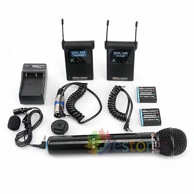 Wireless Microphone For DSLR & Camcorder ROWA FC2410 Stereo Pro