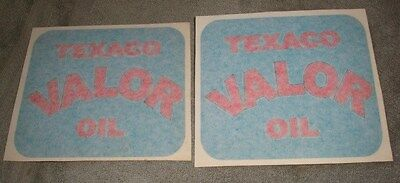 """2-5"""" by 6""""Texaco Valor Oil  decal/stickers"""