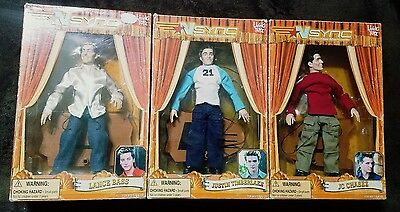 Set of 3 NSYNC Collectible Marionette Dolls 2000 Living Toyz Boxes Included