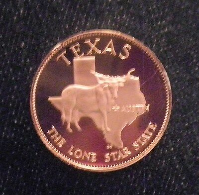 Texas  Great State Proof  Bronze Medal  Franklin Mint