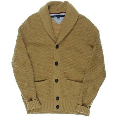 Tommy Hilfiger 5003 Mens Brown Shawl Collar Long Sleeves Cardigan Sweater S BHFO