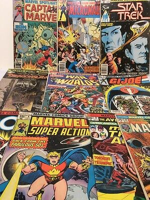 Vintage Bronze Age Marvel Comics Lot Of 10 Comics -Star Trek, Rom, GI Joe