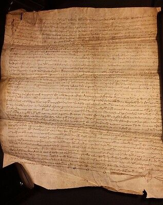 1308 - Very Rare Signed Parchment Period PHILIPPE IV - 709 Years Old!