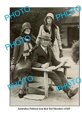 OLD LARGE PHOTO FEATURING AUSTRALIAN POLITICAL ICON RED TED THEODORE c1929