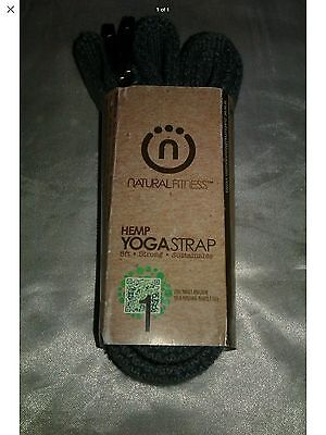 Natural Fitness Hemp Yoga Strap 8 Ft Gray
