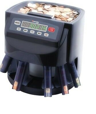 Coin Counter Commercial Money Sorter Automatic Machine Change Wrapper Digital