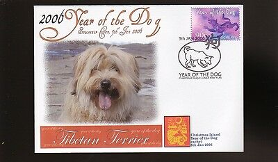 Tibetan Terrier 2006 Year Of The Dog Stamp Cover 3