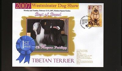 W/M 2007 DOG SHOW BEST of BREED COVER, TIBETAN TERRIER