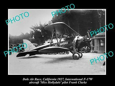 Old Historic Aviation Photo, Dole Air Race Winner 1927, Miss Hollydale Plane
