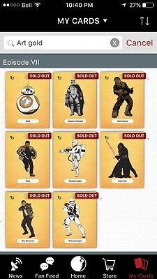 Star Wars Card Trader - Force Awakens Art - All 3 Colors - With Awards