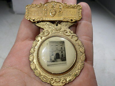Early OBSOLETE Ny Firemans Badge Medal Of a Early Fire House Station