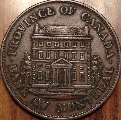 1844 Lower Canada Bank Of Montreal Half Penny Token In Remarkable Condition !