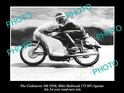 Old Historic Motorcycle Photo Of Mike Hailwood & His Mv Agusta, Cookstown 1958