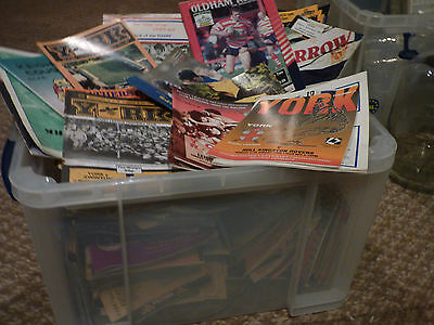 Over 100 YORK Home and Away Programmes (can split singularly) - Some RARE