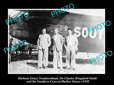 Old Historic Photo Of Harbour Grace Newfoundland, Charles Kingsford-Smith 1930 2