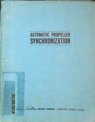 Cessna Aircraft Automatic Propeller Synchronization Catalog Manual ORIGINAL