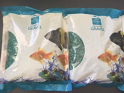 Aquarium Gravel Green - 1kg x 2