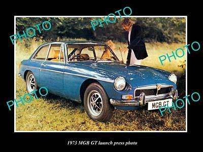 Old Large Historic Photo Of 1973 Mgb Gt Car Launch Press Photo