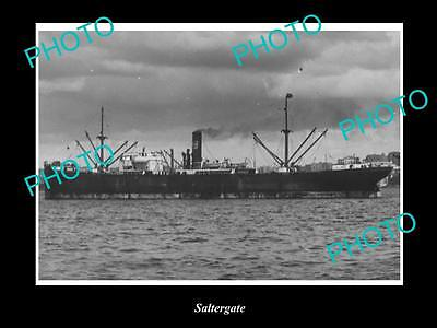OLD LARGE HISTORIC MERCHANT SHIP PHOTO OF THE STEAMSHIP SS SALTERGATE c1920s