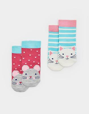 Joules 124134 Baby Girls Hypoallergenic Bamboo Socks - Cat