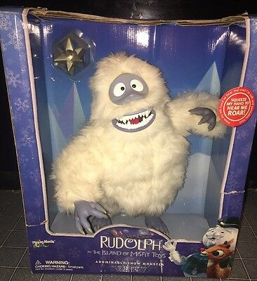 """Rudolph And The Island Of Misfit Toys Ultimate Abominable Snow Monster 16"""" Roars"""