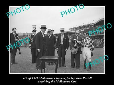 Old Large Horse Racing Photo Of Hiraji, 1947 Melbourne Cup Winner