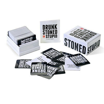 DRUNK STONED OR STUPID Tricky Toys Family Funny Entertainment Cards Puzzle